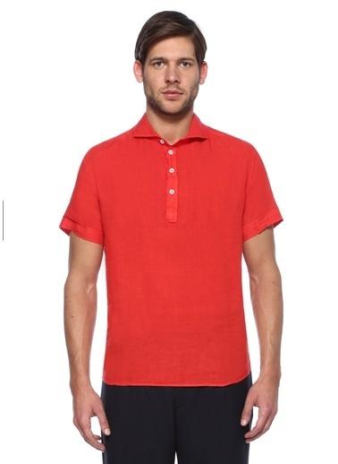 Barena Kısa Kollu Tişört Gömlek Kırmızı